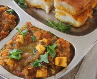 Paneer Pav Bhaji Recipe - Mumbai Street Food Recipe