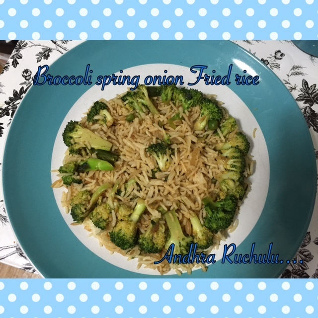 BROCCOLI SPRING ONION FRIED RICE