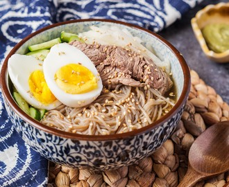 Our Korean Kitchen Cookbook Review and Mul Naeng-Myeon (Buckwheat Noodles in Chilled Broth)