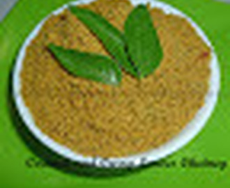 Coconut and Curry leaves Chutney Powder/ Pudi