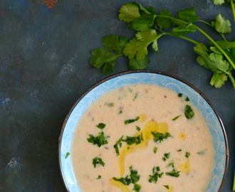 Vrat ki Rajgira Kadhi- amaranth flour yogurt soup for fasting