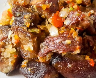 Excitingly spicy asun spicy goat meat