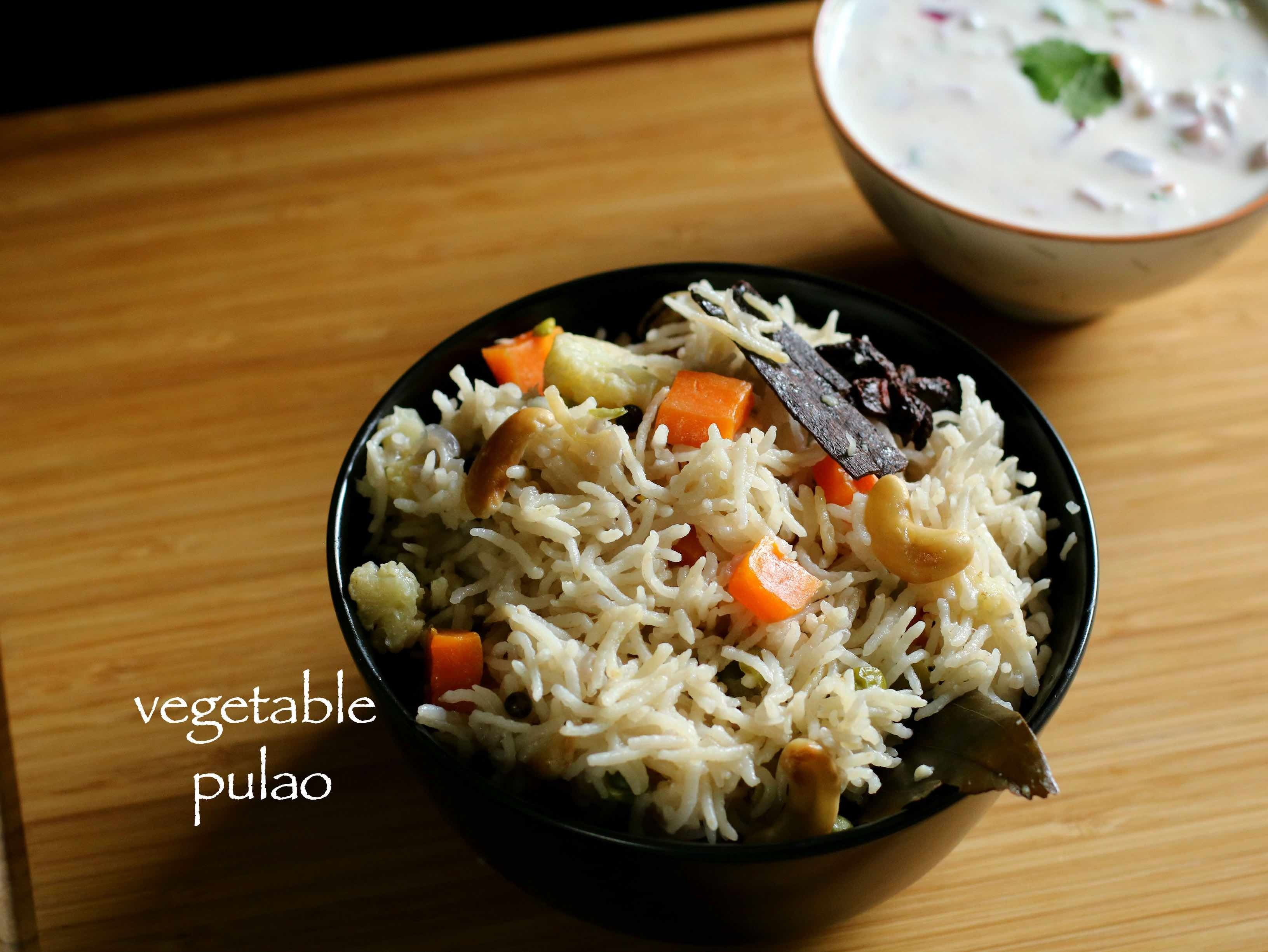 veg pulao recipe | vegetable pulav in pressure cooker recipe