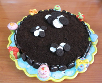 Tarta de chocolate blanco y galletas oreo con Thermomix