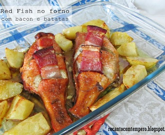 Red fish no forno com bacon e batatas