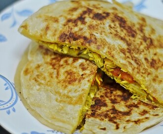 Chilli Chicken Paratha (Cheat version!)