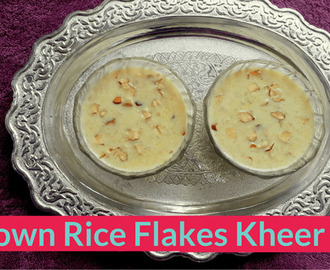 Brown Rice Flakes Kheer Recipe