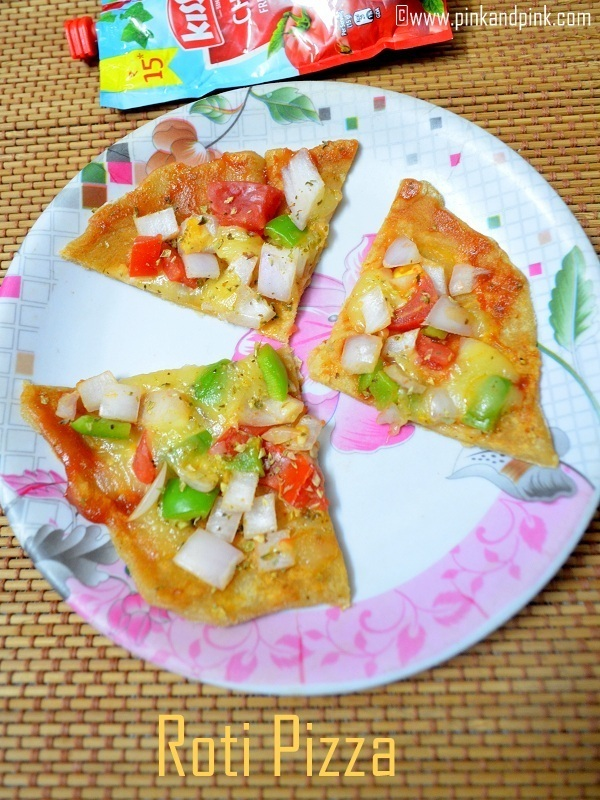 Roti Pizza Recipe - Indian Snacks for kids