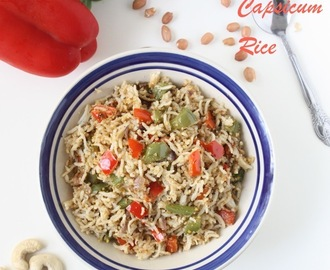 Capsicum Rice | Capsicum with Nuts Rice | Rice Recipe