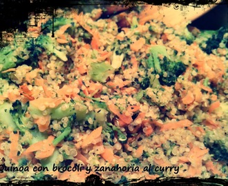 Quinoa con brocoli, zanahoria al curry!
