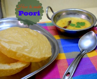 Poori Recipe | Step by Step Pictures for Puri Recipe