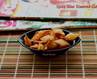 Spicy Sour Diamond Cuts - Spicy crispy  Shankarpali - Pulippu Maida Biscuit