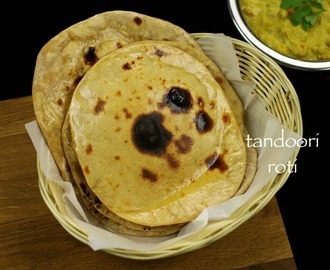 tandoori roti recipe on tawa | tandoori roti on stove top recipe