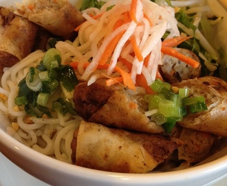 Egg rolls with vermicelli noodle (Bun cha gio)