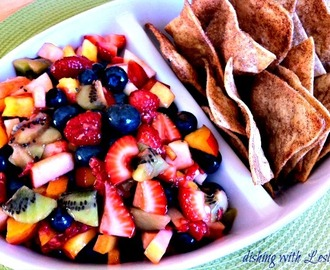 Fruit Salsa (With Baked Cinnamon Chips)