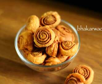 bhakarwadi recipe | how to make maharashtrian bhakarwadi recipe