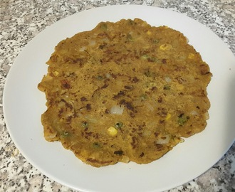 Multigrain Thalipeeth (with leftover Pav Bhaji)