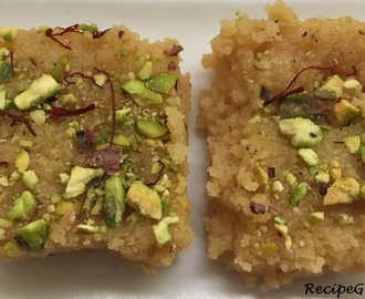 Kalakand Barfi (Ricotta Cheese and Condensed milk - Microwave recipe)