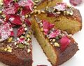 Ottolenghi Pistachio and Rosewater Semolina Cake