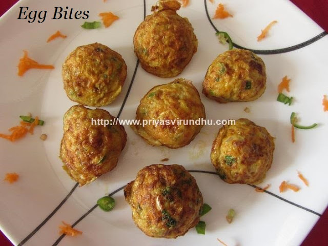 Egg Bites/Easy & Healthy Egg Bites/Easy Breakfast Recipe-Egg Bites