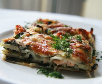 Salmon and Spinach Lasagna