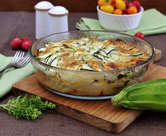Zucchini Potato Cheese Gratin