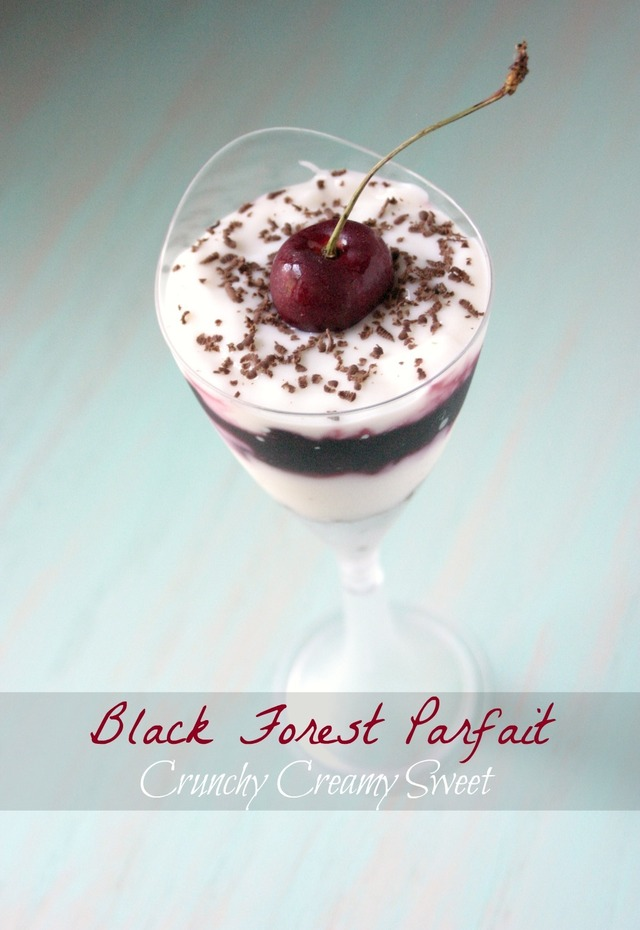 Cherry Love and Black Forest Parfait