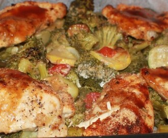 Chicken with Italian Roasted Vegetables