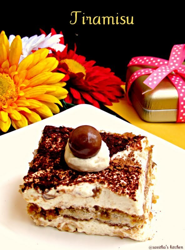 Tiramisu - An Italian layered cake  made easy - A detailed post with complete pictures