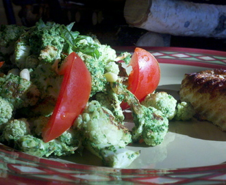 Pesto Cauliflower Nuggets! GF, V, BED, SCD!