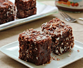 Eggless Chocolate Lamingtons