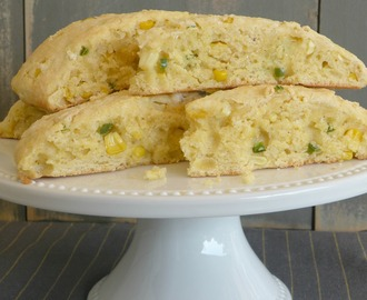 Cornmeal, Jalapeño, and Fresh Corn Scones