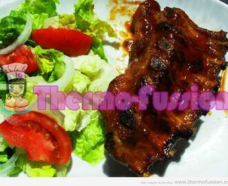COSTILLAS EN SALSA BARBACOA ESTILO FOSTER'S HOLLYWOOD  FUSSIONCOOK TOUCH ADVANCE O THERMOMIX TM31