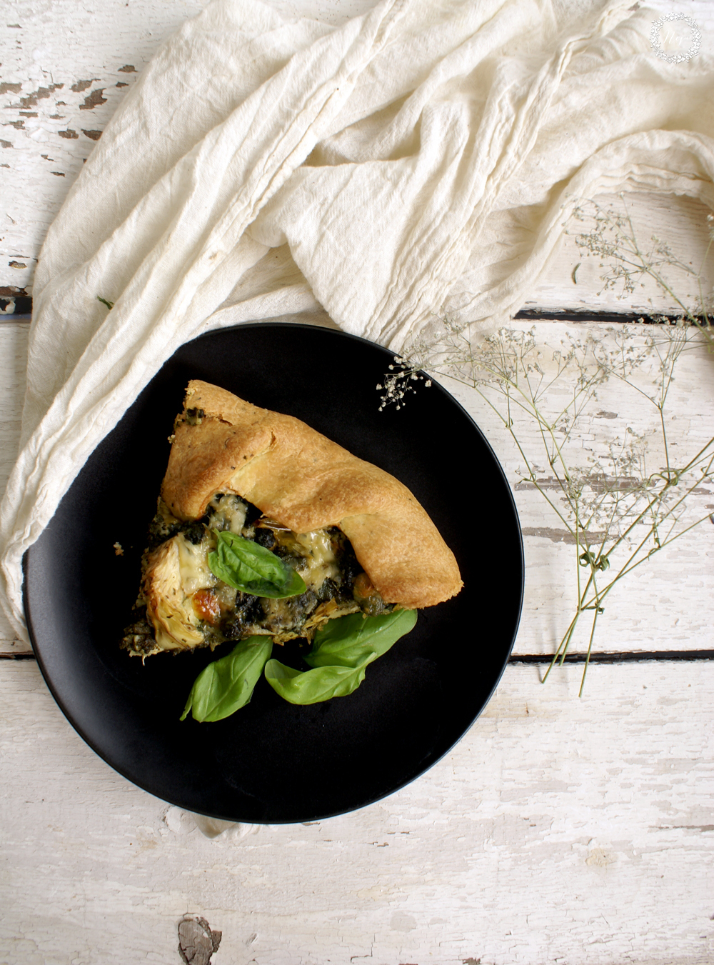 spinach and artichoke galette