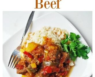 Easy Slow Cooker Mango Salsa Beef