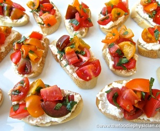 Dining with the Doc: Rustic Summer Bruschetta
