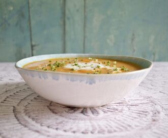 Gluten and Dairy Free Sweet Potato, Ginger & Coconut Milk Soup