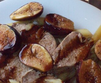 how does roasted pork tenderloin with figs & balsamic reduction sound?