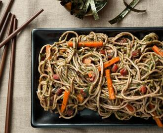 Soba Noodles with Swiss Chard–Miso Pesto Recipe