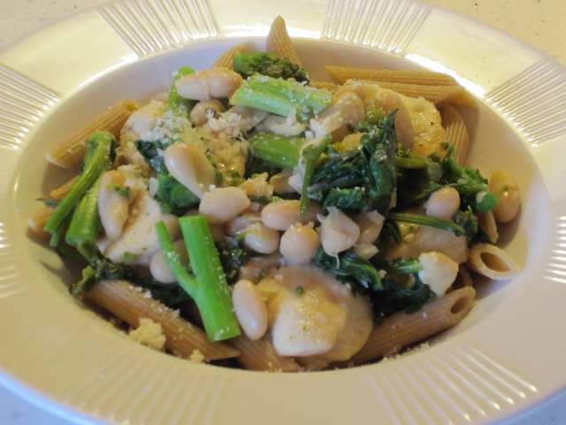 Chicken with Broccoli Rabe and White Beans
