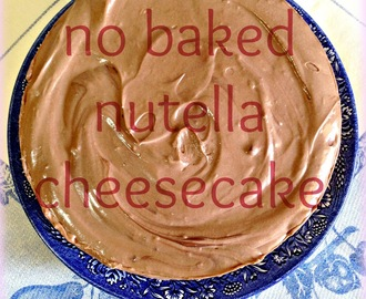 TARTA DE QUESO CON NUTELLA SIN HORNO - NO BAKED NUTELLA CHEESECAKE