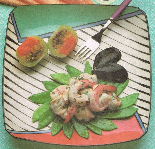 Shrimp with Coconut  Cream and Mussels