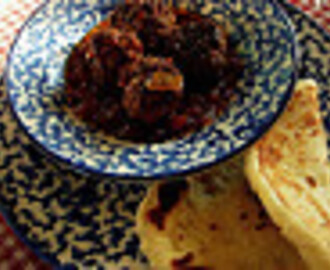 keftka beef meatballs and homemade naan