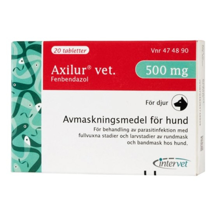 Axilur vet. tablett 500 mg 20 st