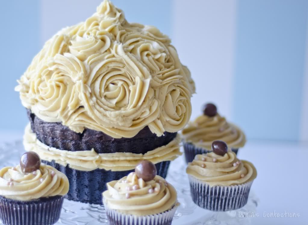 Salted Caramel Frosting (Giant Cupcake Mold Giveaway)