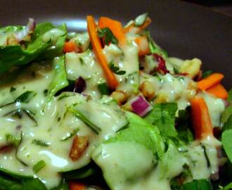 TARRAGON DRESSING With MARINATED MUSHROOM SALAD