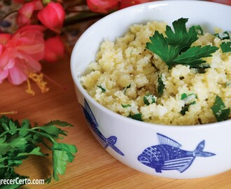 Arroz de couve-flor: low carb