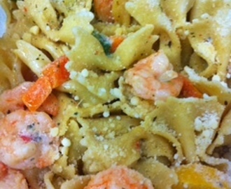 Easy Shrimp Scampi Bowties