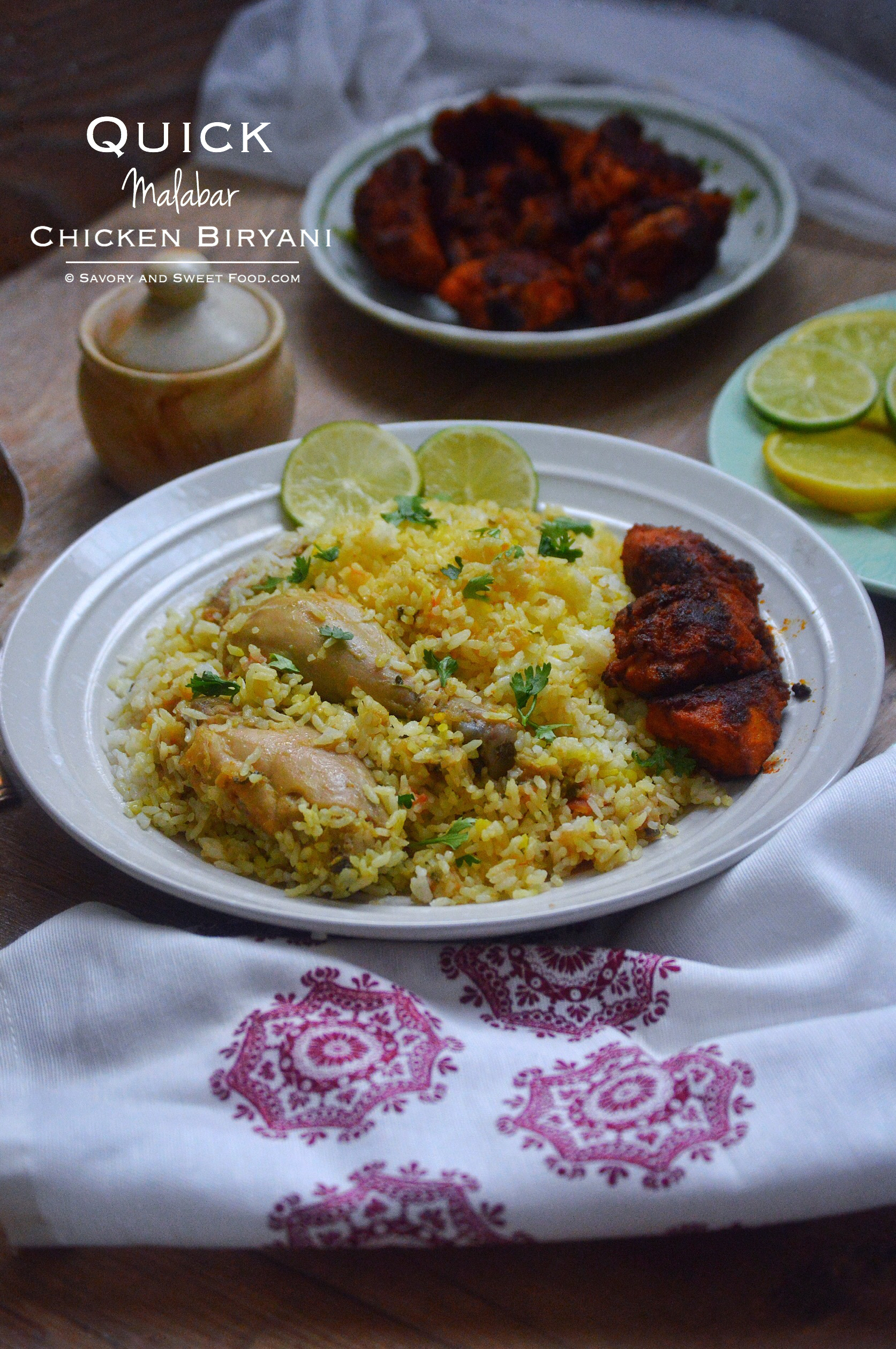 Malabar Chicken Biryani (Quick Version)