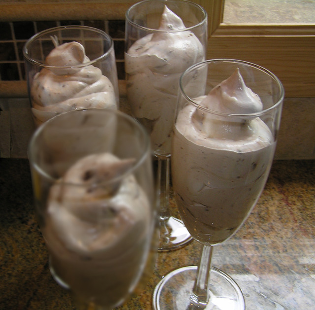Chocolate Almond Frozen Mousse - easy